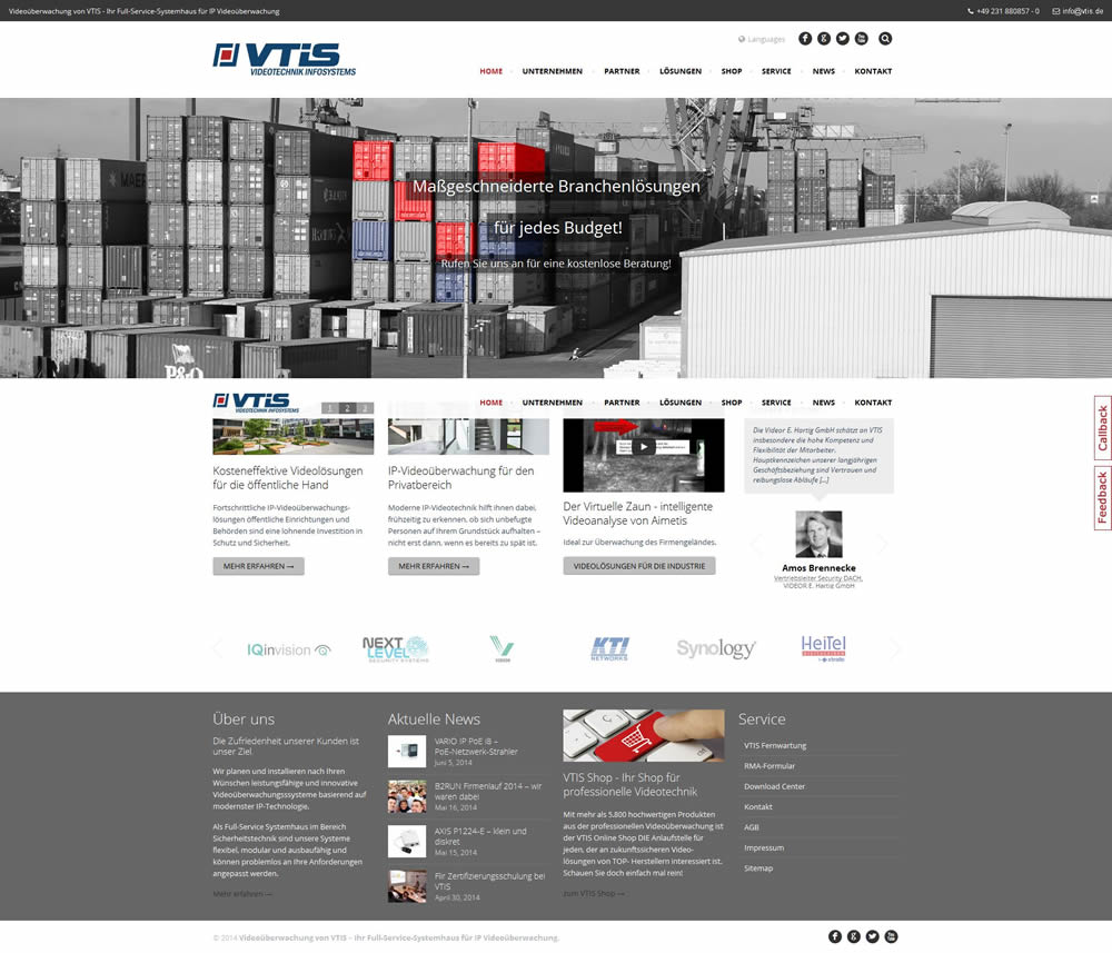 Videotechnik Infosystems Webseite 2014
