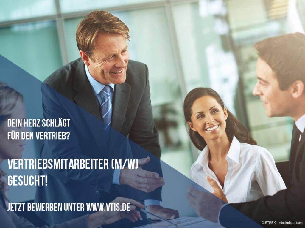 Jobs bei VTIS: Vertriebsmitarbeiter (m/w) gesucht